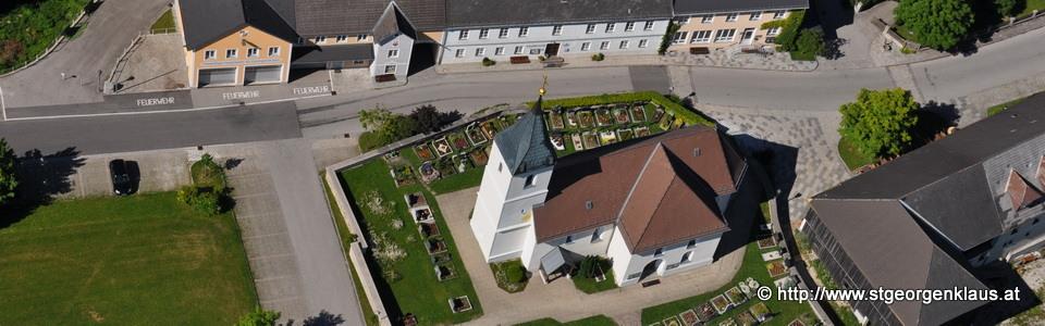 Luftaufnahme von St. Georgen in der Klaus